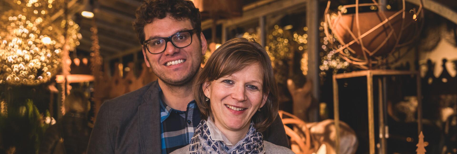 Die Eigentümer der Gärtnerei Fuchsberger lächeln in die Kamera